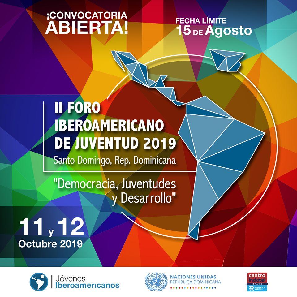 Resultado de imagen para Foro Iberoamericano de Juventud 2019: Democracia, desarrollo y juventudes